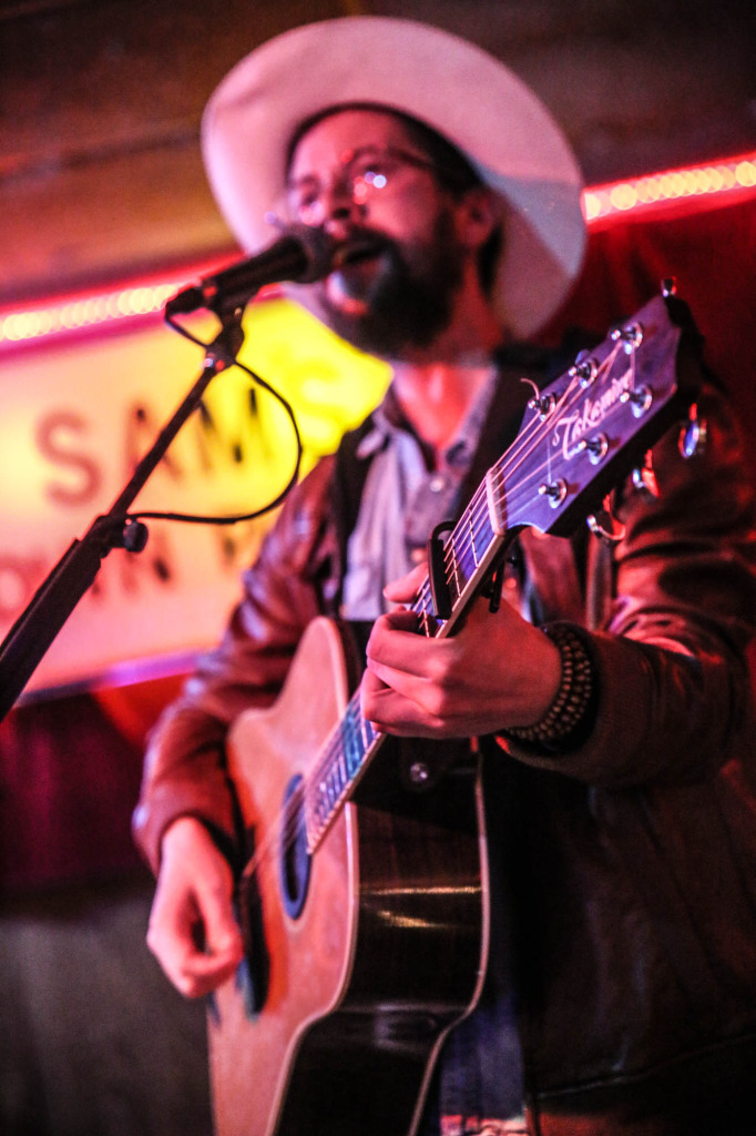 Lee Jaster at Sam's Town Point in Austin, TX. Photography by Geofferson Cole.